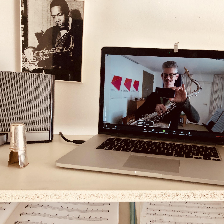 Fernunterricht Saxophon Klarinette lernen Online Videotelefonie Onlineunterricht